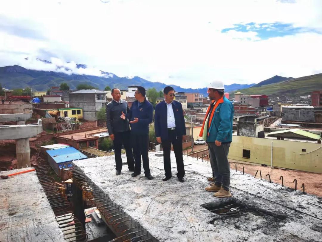 县委副书记陈有军督导检查重点项目建设推进情况